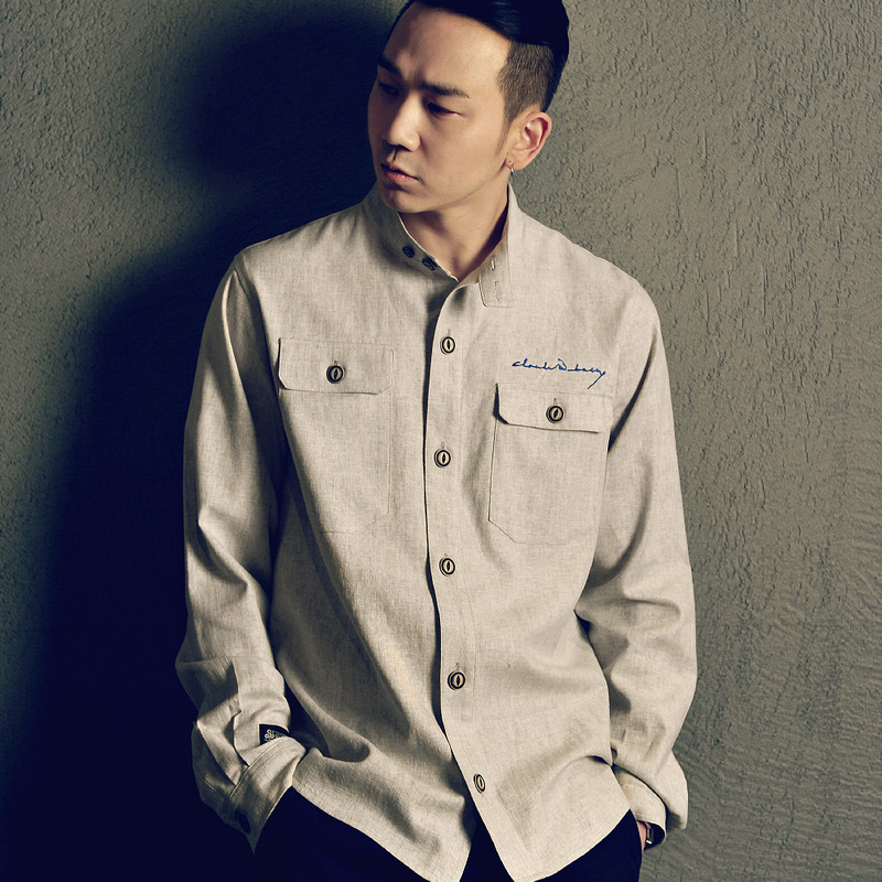 Turtle Linen Shirt (Light Gray)