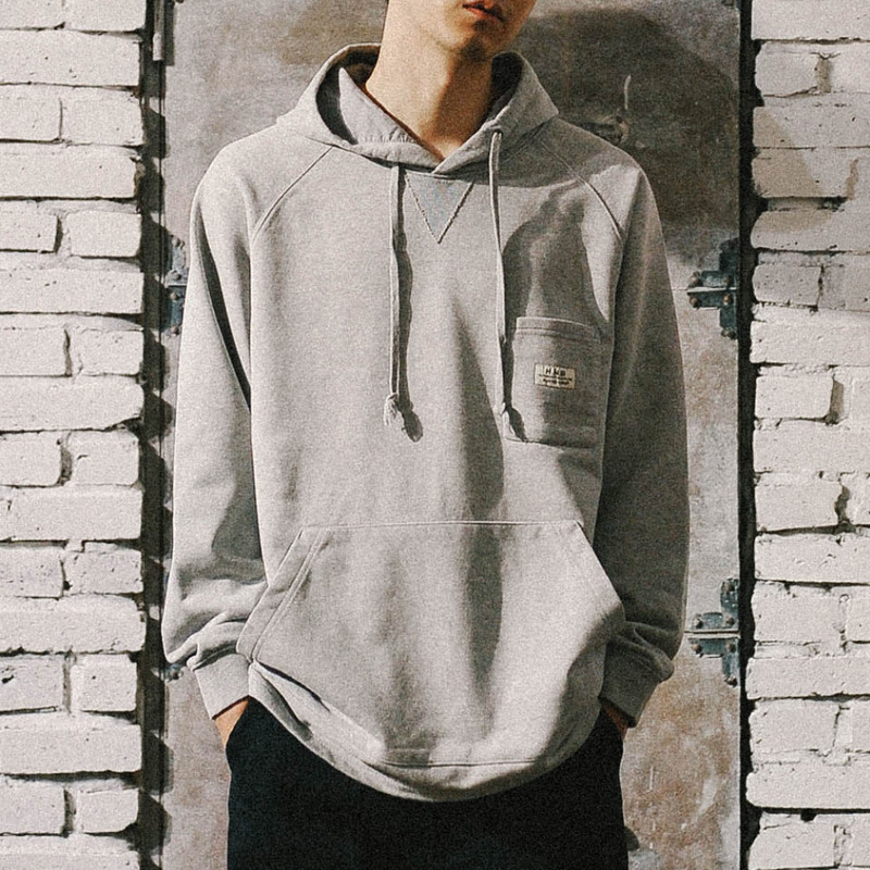 OLD GEM Washed hoodie(GR)