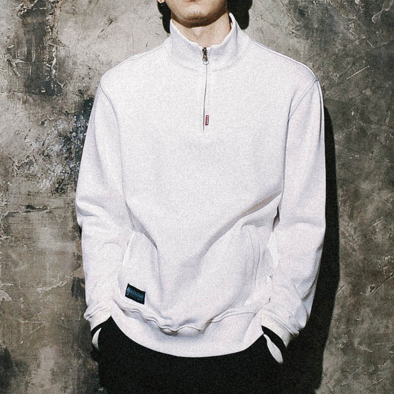 SILENCE Half zip-up(WH)